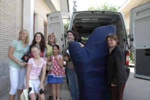 Transporting harps in Madrid